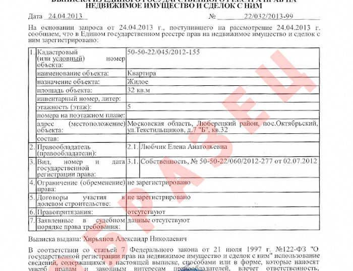 Образцы документов по Московской области